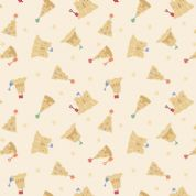 Lewis & Irene - Small Things By The Sea - 6598 - Sandcastles on Cream - SM20.1 - Cotton Fabric